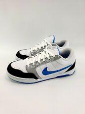 Mens NIKE Air Burnside 407505 102 White Blue Skate Boarding Sneakers Shoes Sz 11