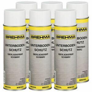 6x Unterbodenschutz Steinschlagschutz Spray schwarz 500ml lackierbar bitumenfrei