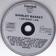 SHIRLEY BASSEY-I AM WHAT I AM-firstpress CD Vogue/towerbell © 1984 Grey face