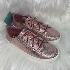 New listing Toms Girls Size 6 Lenny Lavender Crackle Sneakers