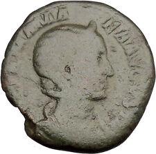 JULIA MAMAEA Sestertius Ancient Roman Coin GOOD LUCK Cult  Commerce i37742