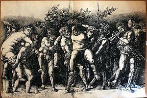 Bacchus by Mantegna Original Offs. Lithograph 1939 Verve, nude, eroticart,vine,