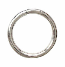 100 JUMP RINGS SILVER PLATED SLIGHTLY OPEN 10MM - 1MM THICK