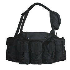 NEW Tactical Military Police 7 Pocket Spec Op Mag Carrier Chest Rig - SWAT BLACK