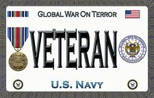 Navy - War on Terror - Magnetic Car Sign - 6in X 3.75in