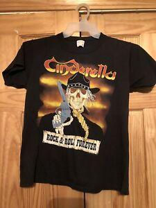 Cinderella 1988 Concert tour shirt large long cold winter original vintage medi