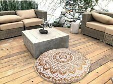 "32"" Indian Mandala Floor Decorative Cushion Cover Large Round Pillow Case Covers"
