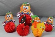 Papier Partydeko - Party Deko Clown + Maulwurf + Küken+Zwerg - H bis 27 cm. /319