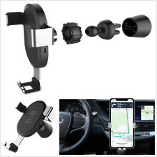 10W Fast Qi Wireless Car Charger Holder+Micro USB Cable For iPhone Samsung Mi