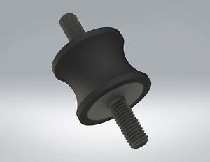 5-Pack: 32x25mm M8, Options, UK Made, Rubber Bobbin Anti Vibration Mount MM