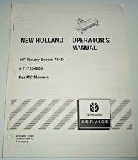 New Holland 704d 60 Rotary Broom For Mc Mowers Operatorsampparts Manual Original