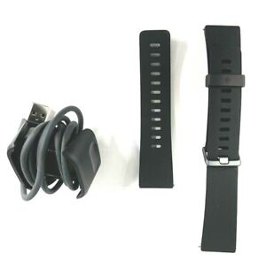 Original OEM Fitbit Versa 2 FB507 Rubber Wristband Small Large Charger Black