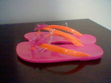 BRAND NEW GIRL'S SIZE 11-12 EXTREMELY ME JELLY STYLE THONG FLIP FLOPS