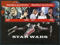 Central African Rep 2017 CTO Star Wars Han Solo Luke Skywalker 2v M/S Stamps