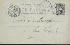 ENTIER  POSTAL  CARTE POSTALE  TYPE SAGE 1900