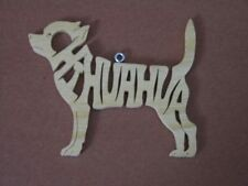 Chihuahua  Wood Toy Dog Christmas Ornament  Gift Tag