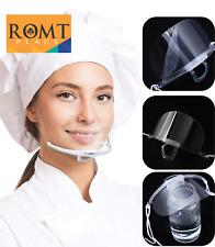 5pcs Clear Transparent Reusable Adjustable Mouth Shield Anti-fog Mouth Mask
