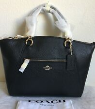 NWT COACH Prairie Pebbled Leather Chain Satchel 59501 $325 Black/Light Gold
