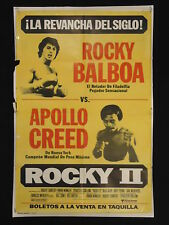 ROCKY II (1979) * REMATCH FIGHT STYLE * STALLONE * ARGENTINE 1sh MOVIE POSTER