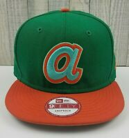 Atlanta Braves New Era 9FIFTY MLB Cooperstown Snapback Hat Cap Green/Orange