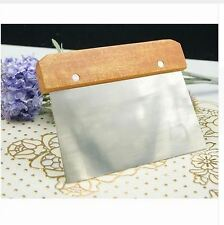 Stainless Steel Scraper Paint Dough Pizza Bakery Tool Bread Cake Cutter Kitchen