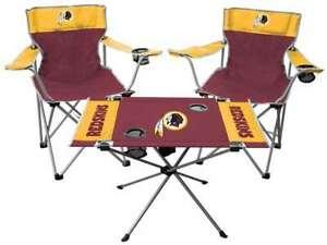 Washington Redskins  3 Piece Tailgate Kit - 2 Chairs - 1 Table