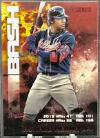 2020 Topps Stadium Club Red Foil Ronald Acuna Bash and Burn Braves SP