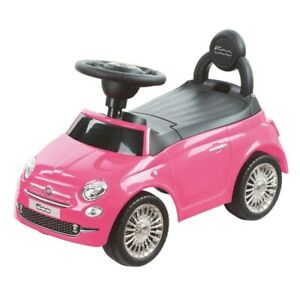 Kids Toddlers Ride On Car Fiat 500 Pink Girls Baby My First Push Along Toy B/O