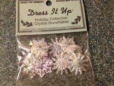 JESSE JAMES DRESS IT UP BUTTONS CRYSTAL SNOWFLAKES CHRISTMAS COLLECTION 2079 NEW