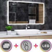 UHR Seoul Badspiegel mit LED Beleuchtung Wandspiegel  BLUETOOTH SCHALTER A03