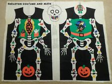 Kids Childrens Pullover Skeleton Halloween Costume Tunic Fabric Make Your Own