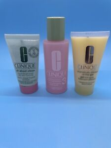 CLINIQUE 3 STEP Clarifying Lotion 3 Dramatically Different Gel Facial Soap Oily