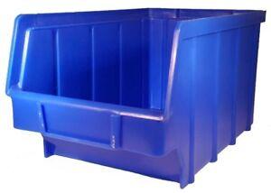 15 x Stapelboxen blau Größe 3 Lagerboxen Sichtlagerbox Sichtlagerkästen Sichtbox