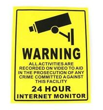 Cctv Security Camera System Warning Sign Sticker Decal Surveillance 250mmx200mm