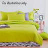 Brighten Plain Dyed 100% Egyptian Cotton 200TC Fitted/Flat Sheets & Pillow Cases