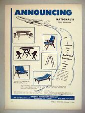National School Slate Co PRINT AD - 1966 ~ redwood patio furniture, picnic table