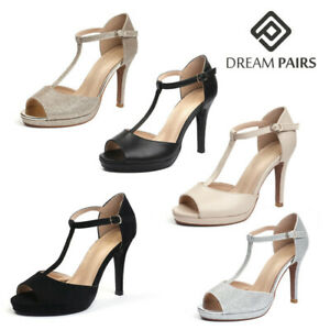 DREAM PAIRS Women's Ankle Strap High Heel Sandals Stilettos Open Toe Pump Shoes
