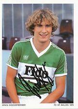 Armin Bischofsberger  FC St.Gallen  Autogrammkarte signiert 297375