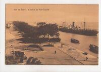 Vue De Suez Entree de Port Tewfik Egypt Vintage Postcard 335b