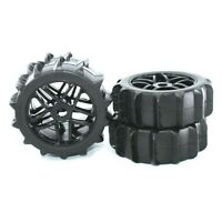 4pc RC 1/8 Paddles Buggy Tires Hex 17mm Wheels For Snow Sand Master Off Road Car