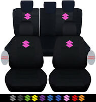 2005-2015 suzuki swift front+back seat covers black w/ s ,airbags compatible!!!