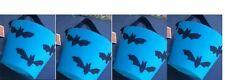 "HALLOWEEN BATS TRICK or TREAT 6"" FELT BUCKETS PAILS BAT LOT 4 FABRIC BUCKET PAIL"