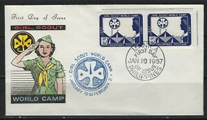 PHILIPPINES - 1957 GIRL SCOUT WORLD CAMP CACHET FIRST DAY COVER FDC