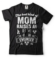 Engineer's Mom T-shirt Gift for Mother best moms raise an Engineer Tee Shirt