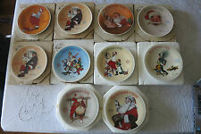 Lot of 10 Norman Rockwell CHRISTMAS Collectible Plates - NIB KNOWLES BRADFORD EX