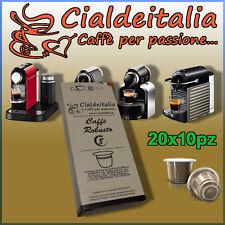 200 capsule Cialdeitalia Caffè ROBUSTO Compatibili NESPRESSO