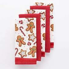 The Big One Christmas Gingerbread Kitchen Towel Set 5 Pack New With Tags
