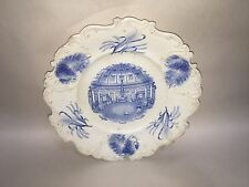 Staffordshire Blue Transfer Plate Montpellier Rotunda Cheltenham Hyde Park Maker
