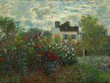 The Artist's Garden in Argenteuil (A Corner of the Garden with Dahlias) Claude M