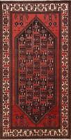 Bakhtiari 5x10 Wool Hand-Knotted Geometric RED Oriental Runner Rug